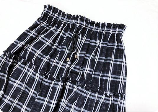 しまむら チェック柄ロングスカート