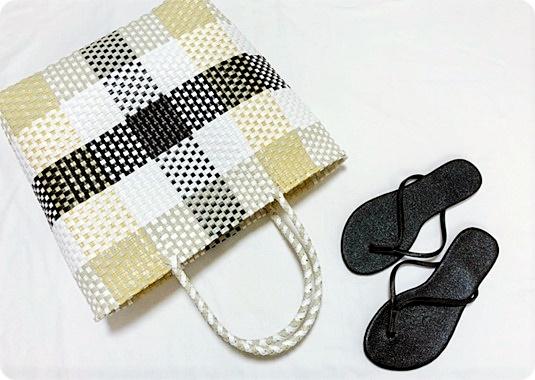 lattice プチプラ メルカドバッグ かごバッグ ビーチサンダル