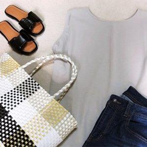 30代ファッション ファッションコーデ メルカドバッグ