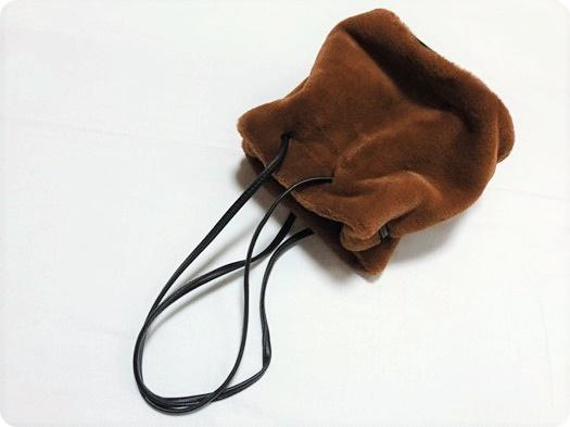 プチプラ ファーバッグ ファー巾着 エコファー
