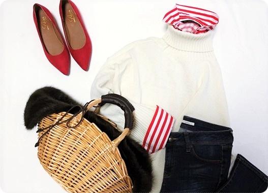 ファッションコーデ ストライプシャツ