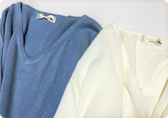 プリプラファッション 春カラーニット ブルー&ホワイト