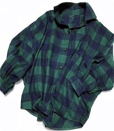 プチプラ 楽天 ブロックチェックシャツ
