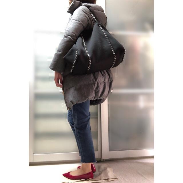 ファッションコーデ プチプラ ネオプレントート ブラック