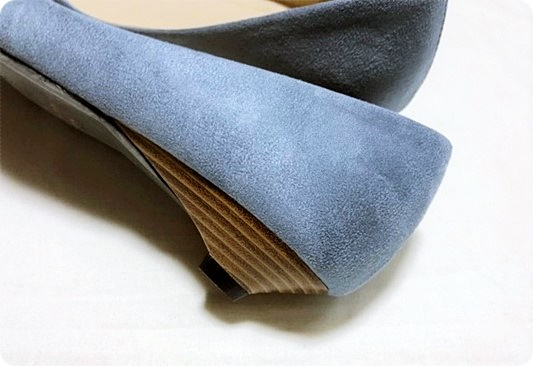 プチプラ 3cmヒールパンプス ブルー