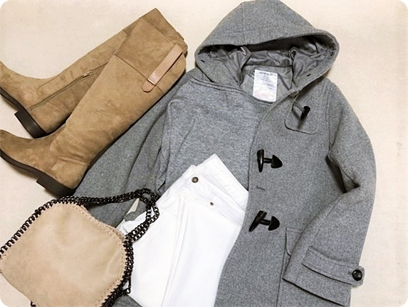 ファッションコーデ 置き画 GU ホワイトデニム