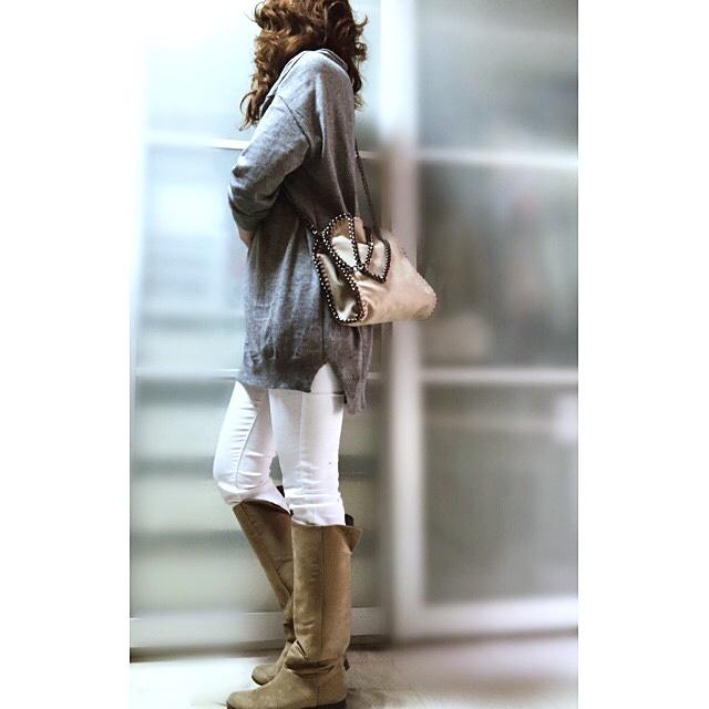 ファッションコーデ GRL ステラマッカートニー風 チェーントリミングバッグ