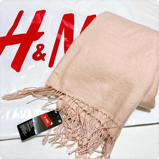 H&M プチプラ お値下げ セール ストール ピンク