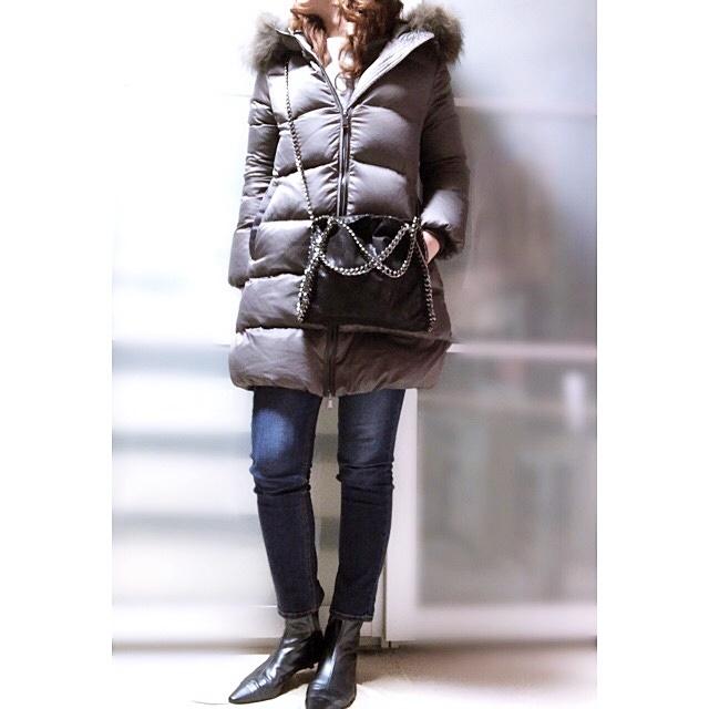 ファッションコーデ 冬ファッション ダウンコート