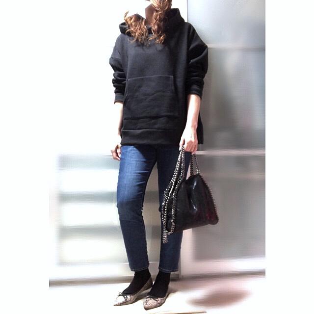 ファッションコーデ プチプラ チェーントリミングバッグ