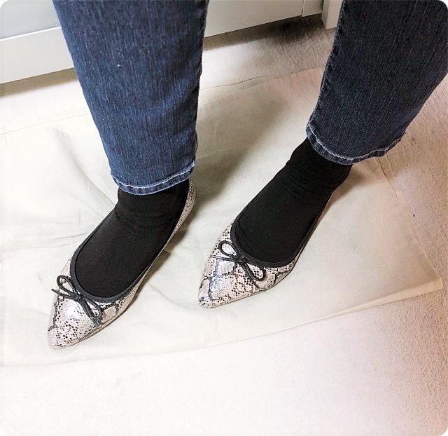 プチプラ 靴下 ソックス 靴下コーデ ブラック