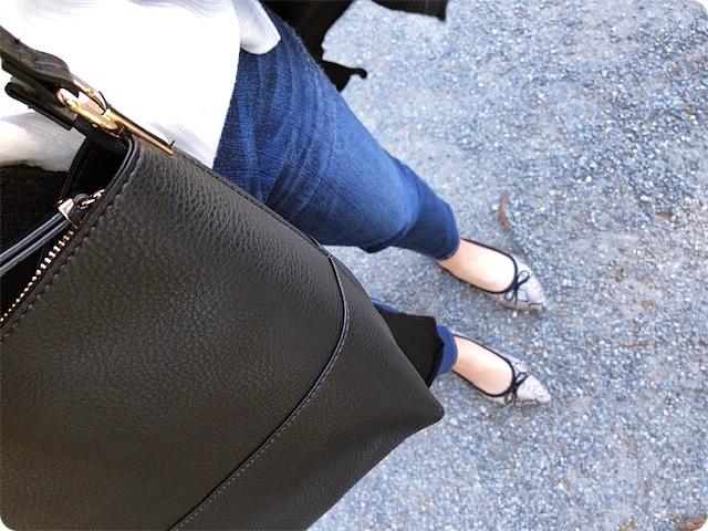 ファッションコーデ プチプラ ショルダーバッグ H&M