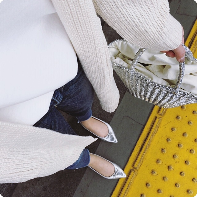ファッションコーデ ロングカーディガン イロチ買い ベージュ