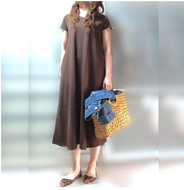 ファッションコーデ AMERICAN HOLIC ロングワンピース